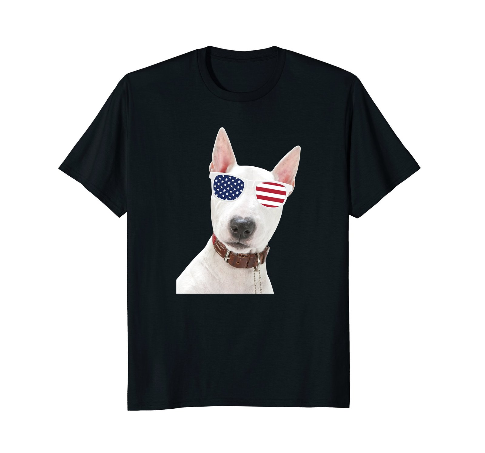 Bull Terrier Wearing Sunglasses 4th Of July Dog T-Shirt