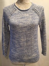 J.CREW WOMEN BEACH SWEATER WITH POINTELLE DETAILS PETITE SIZE S - $24.99