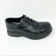 Dansko 38 Chunky Lace Up Oxfords Black Leather - $57.09