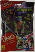 Nickelodeon Teenage Mutant Ninja Turtles UNO Card Game 112 Cards Reseala... - $6.49