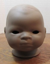 """Vintage  BISQUE DOLL HEAD 3/"""" TALL unpainted  body parts JDK 221 HAPPY"""