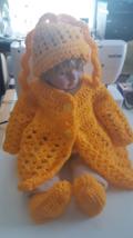 Three Piece Baby Crochet  Set - 0 - 12 months  - $30.00