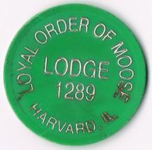 Vintage Loyal Order Of Moose Lodge 1289 One Drink Token Harvard IL. - $9.89