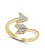 "Round Cut Cubic Zirconia Simple ""ARROW"" Style Women's Wedding Adjustable... - $14.99"