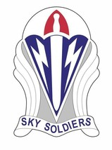 US Army 173rd Airborne Brigade 12'' Sticker Sky Soldiers Military Armed ... - $24.74