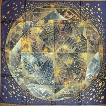 Hermes Carre 90 Scarf Stole Faubourg By Night Benoit Pierre Emery Woman Rare - $489.33