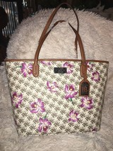 Ralph Lauren Belknap Monogram Classic Tote Floral Orchid BAG Handbag NEW... - $90.30