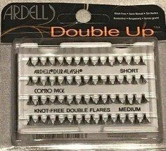 2 PACK Ardell Double Up Knot Free Flares Lashes Combo Pack Short, Medium - $12.19