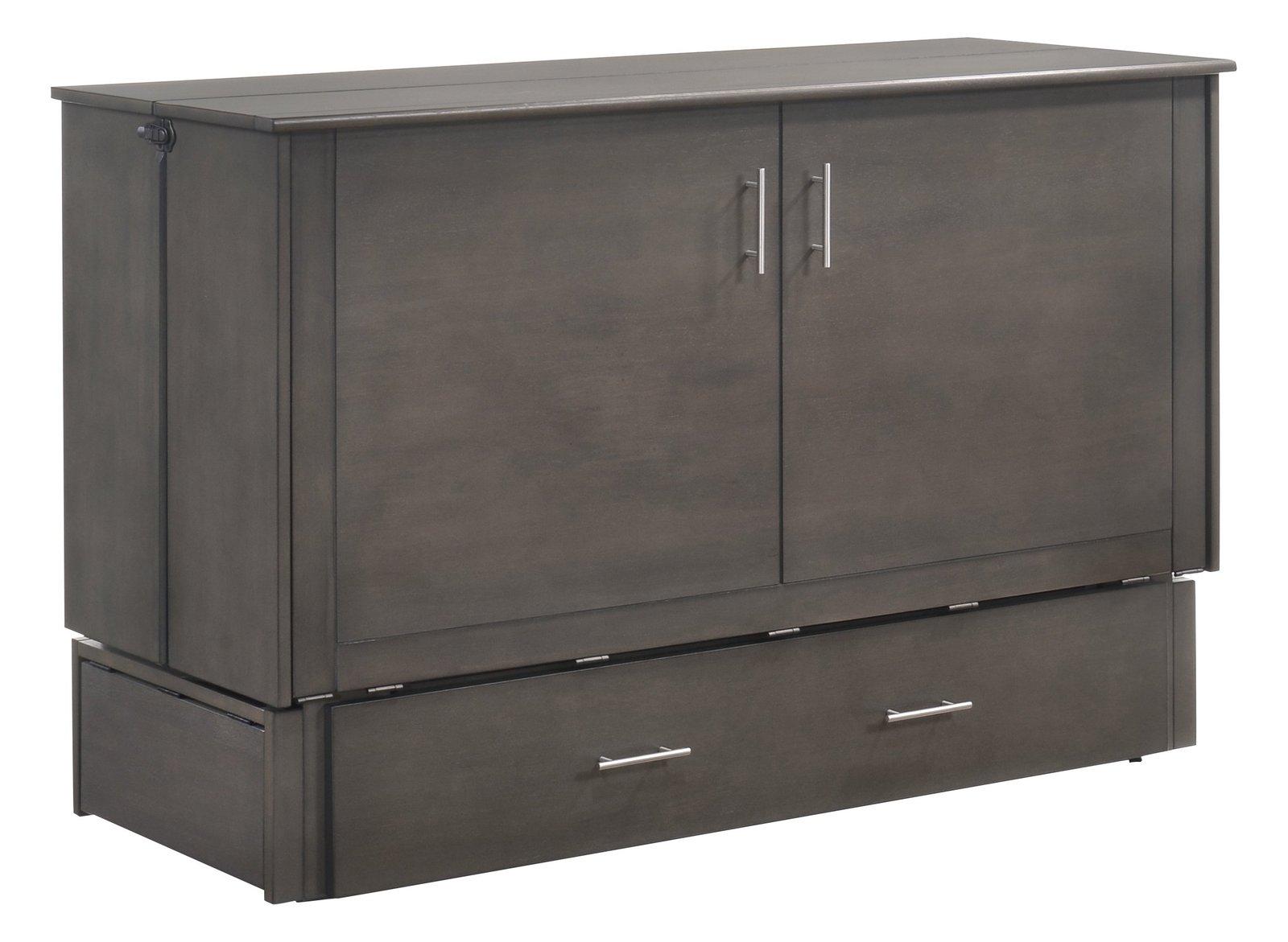 Night& Day Furniture Sagebrush Murphy Cabinet Bed with Mattress, Stonewash,  Beds& Bed Frames