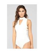 Fashion Nova Women's White Long Sleeves Bodysuit Size L - $18.55