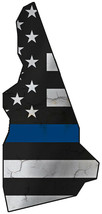 Thin Blue Line Police State of New Hampshire Metal Sign 17Hx8W. - $25.74