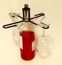 Wine Glass Holder that balances on a Wine Bottle-Bronze Finish  Great Gift - $15.99