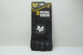 Valeo VI4859SM  V3 Work gloves Small Leather Half Finger Black New - $9.89