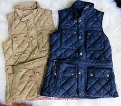 New w Tag POLO RALPH LAUREN Women's Grey Duck Down Vest - $99.95