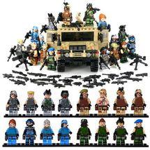 Military War Vehicle Hummer Counter-terrorism Lego Minifigure Building B... - $125.00