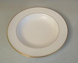 RARE Pfaltzgraff Bone Chine Soup Bowl Wide Rim Since 1811 Made USA Cream & Gold - $9.89