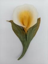 Vintage Dea Capodimonte Porcelain Calla Lily Made in Italy Art Décor Ant... - $56.95