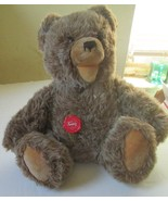 Vtg HERMANN Original Teddy Plush TEDDY BEAR open mouth jointed red plast... - $89.99