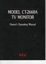 Model CT-2660A TV Monitor Owner's Operating Manual - NEC Home Electronics. - $3.91
