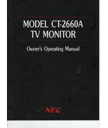 Model CT-2660A TV Monitor Owner's Operating Manual - NEC Home Electronics. - $3.43