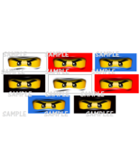 16 Ninjago inspired Eye Stickers, Party Supplies, Decorations, Favors, L... - $8.99