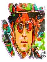 """John Lennon, The Beatles, Guitar, Vocals, Rock & Roll, Music 18""""x24"""" Art... - $19.99"""
