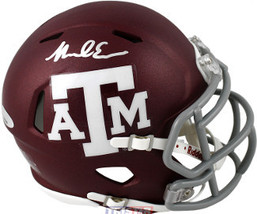Mike Evans signed Texas A&M Aggies Speed Maroon Matte Mini Helmet- Tri-Star Holo - $102.95