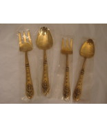 4 Vintage 1950's Thailand  / Siamese Bronze Serving Spoons and Serving F... - $39.00