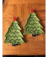 Christmas Tree Plates Set Of 2 - $16.71