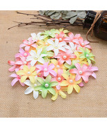 Artifical Flowers 50/100pcs/set 5cm Heads Silk Flower Pearl Petals DIY H... - $4.76+