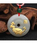 New Design Flower Jade Necklace For Unisex Good Quality Best gift Hot Se... - $64.83