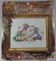 """Mice Stitching I Love (Heart) Cross Stitch 5268 11 x 14"""" Designs for the... - $16.44"""
