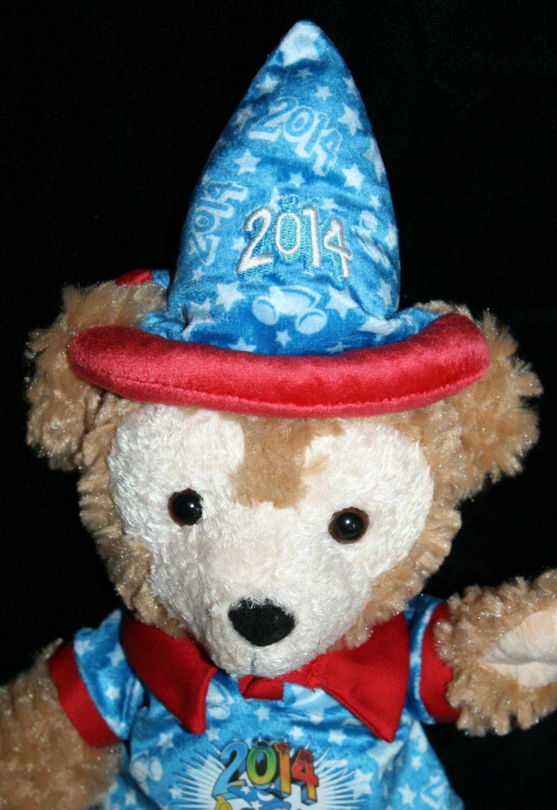 "DUFFY BEAR 18"" Hidden Mickey Disney Sorcerer Wizard Plush Blue Hat Soft Toy 2014"