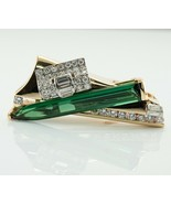 Diamond Green Tourmaline Pendant Slide 14K Gold  - $4,980.00