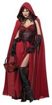 California Costumes Women's Dark Red Riding Hood Adult, Red, Medium - £41.53 GBP