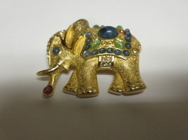 "Costume Jewelry , Pin / Brooch , Elephant , 2"" X 2"" , TLC Needed - $35.00"