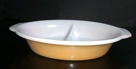 Vintage Anchor Hocking Fire-King Peach Lustre Divided Oval Vegetable Bow... - $7.43