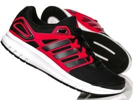 Adidas Hommes Duramo 6 Chaussures Baskets - B40945 - Noir/Rouge - $65.18