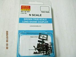 Micro-Trains Stock #00122301 True -Scale Brown Long Shank Coupler  (1301-B) (N) image 4