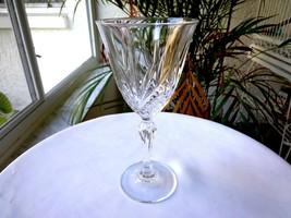 """Set of 5 Cristal De Flandre Salzburg Pattern Crystal Wine Glasses 6 1/2"""" Tall - $39.59"""