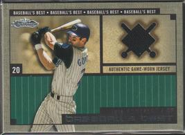 2002 Fleer Showcase Luis Gonzalez D'Backs Game Used Jersey Baseball Card... - $8.00