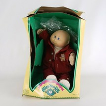 Cabbage Patch Kids 1985  Boy Teddy Beard Coat Red Outfit - $48.49