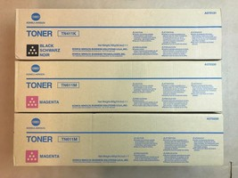 3pk Genuine Konica TN411K TN611M Black & Magenta Toner for Bizhub C451 - $183.15