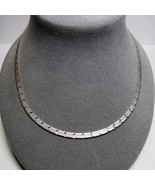 "MILOR Italy Sterling Silver Reversible Design Beveled Herringbone 18"" Ne... - $24.73"