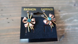 Vintage 12k Gold Filled VAN DELL Screw Back Earrings 2.7 cm - $19.79