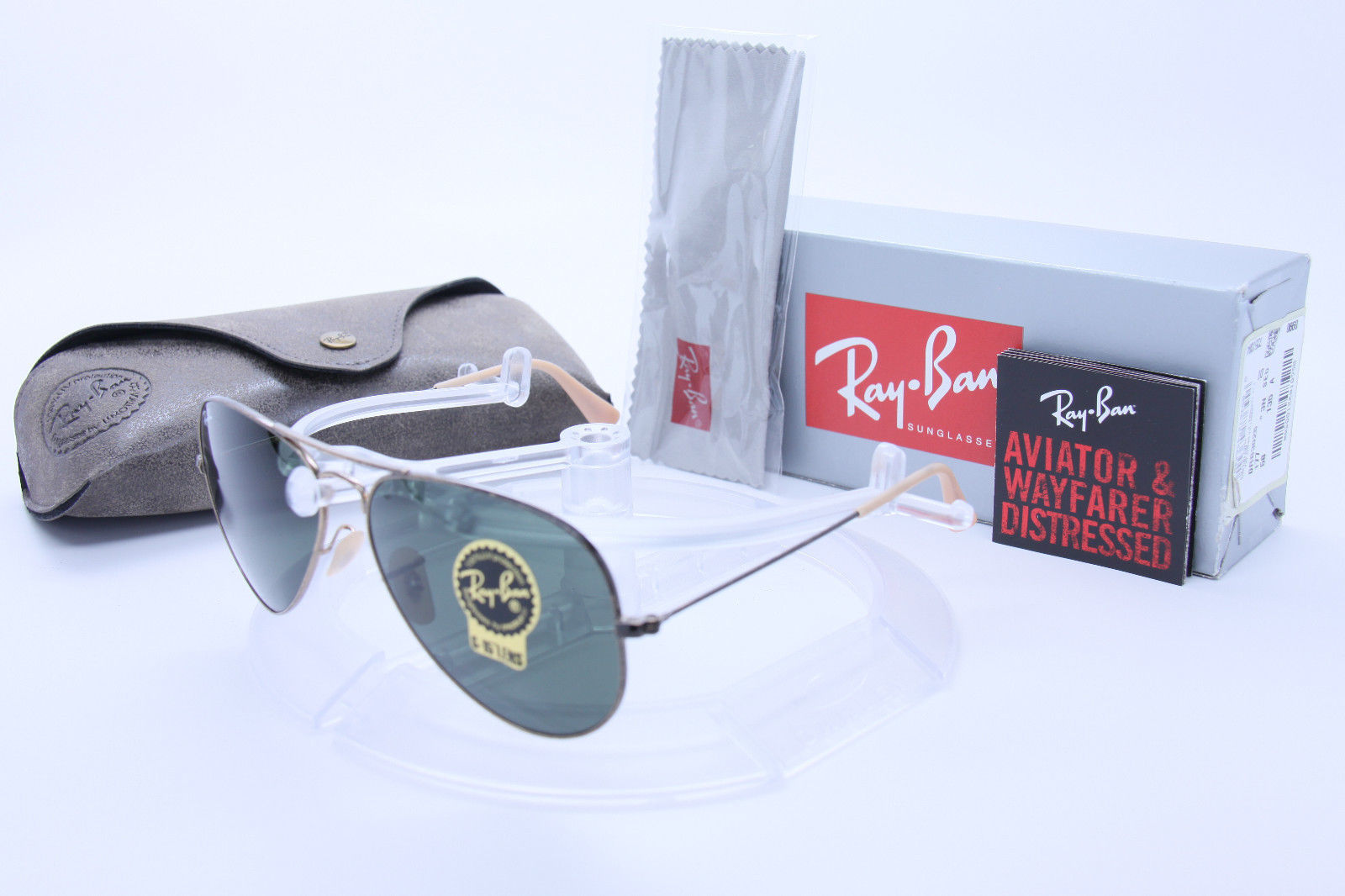 New Ray Ban Aviator RB3025 177 58mm ANTIQUE Gold  w/G-15 Green