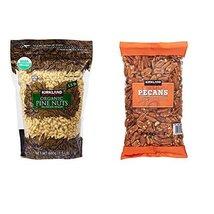Kirkland Signature Organic Pine Nuts and Pecan Bundle - Includes Kirklan... - $69.29