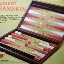 Vintage 1977 Lowe Tournament Backgammon Set Complete in Box - $32.90