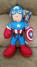 AVENGERS ASSEMBLE CAPTAIN AMERICA New Licensed Plush Marvel NWT With Tag... - $11.99