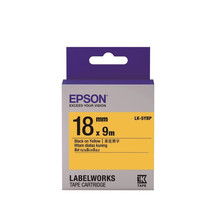 18mm Black on Yellow - Epson LABELWORKS LK-5YBP Tape Cartridges (Pack of 4) - $82.99